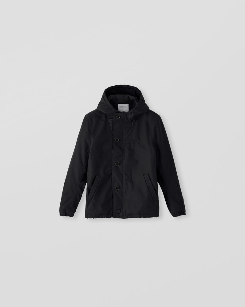 Image of CM1-1 Hooded Deck Jacket Black