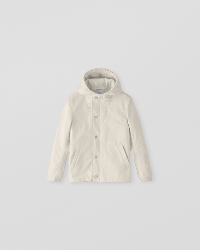 Image of CM1-1 Hooded Deck Jacket Ecru