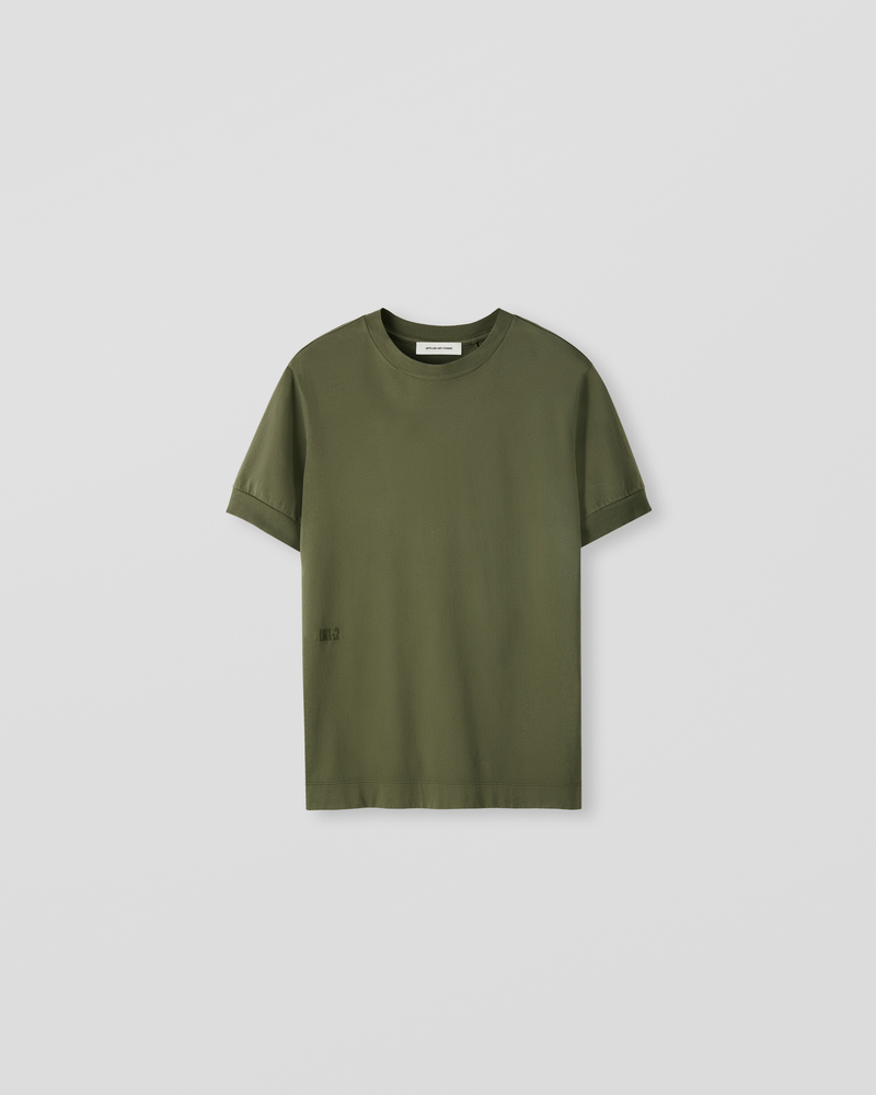 Image of LM1-2 Rib T-Shirt Surplus Green