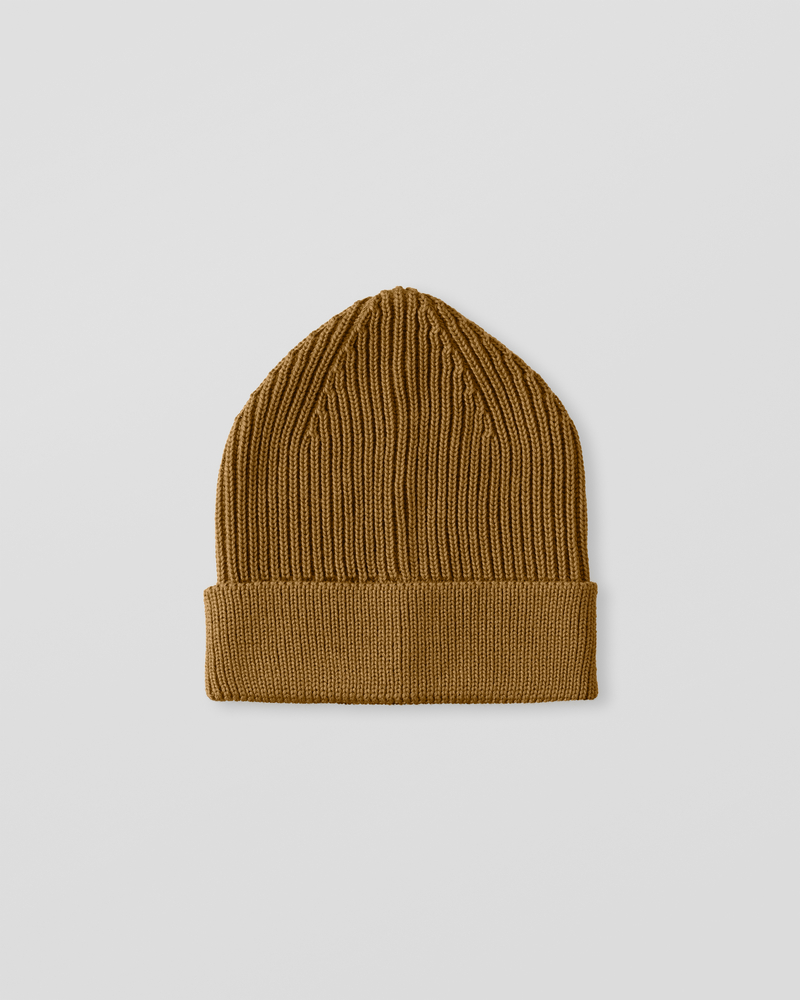 Image of UU1-1 Ribbed Wool Beanie Copper