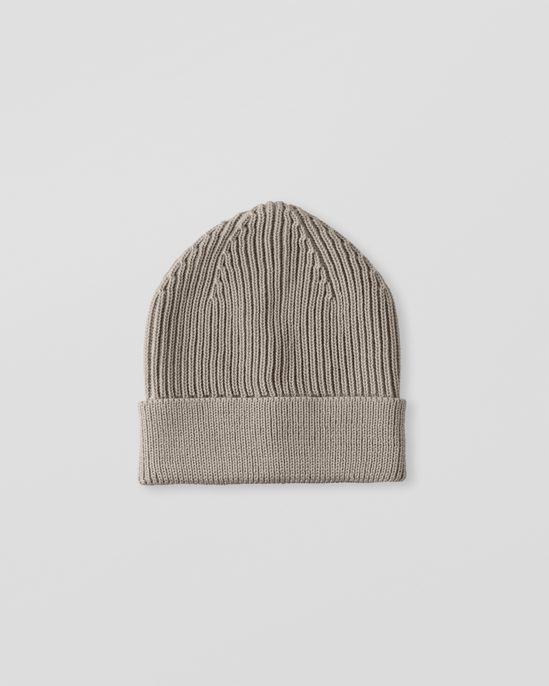 Image of UU1-1 Ribbed Wool Beanie Dust Grey
