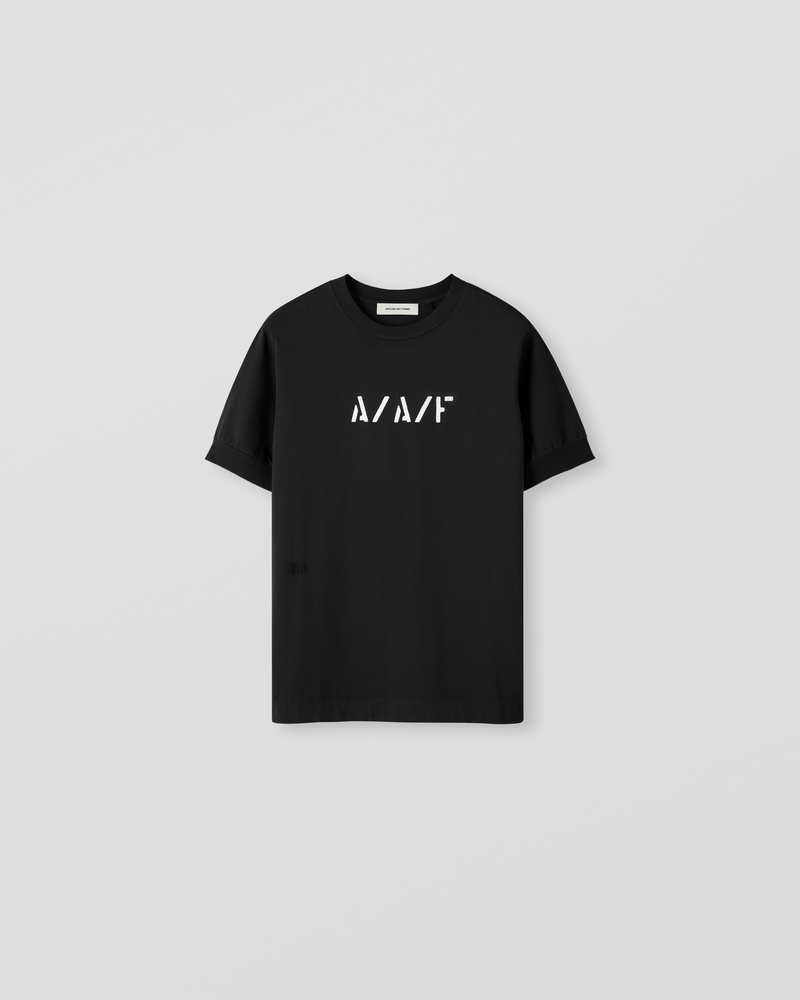 Image of LM1-2 Rib T-Shirt Black [Front Logo]