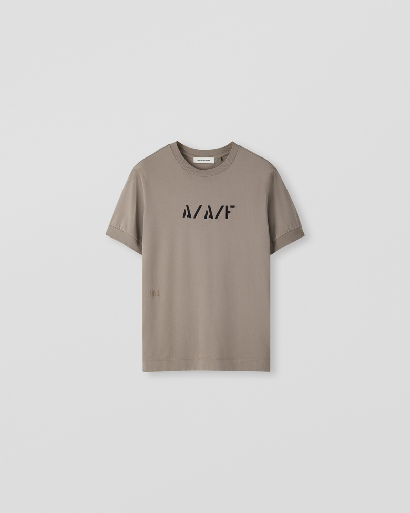 Image of LM1-2 Rib T-Shirt Dust Grey [Front Logo]