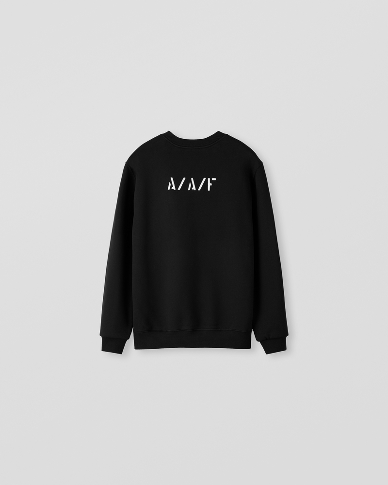 Image of NM1-1 Crewneck Sweater Black [Back Logo]