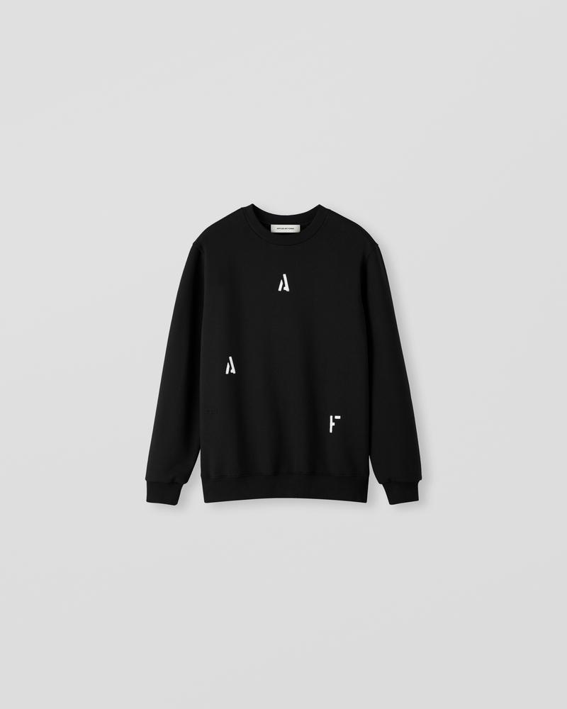 Image of NM1-1 Crewneck Sweater Black [Split Logo]
