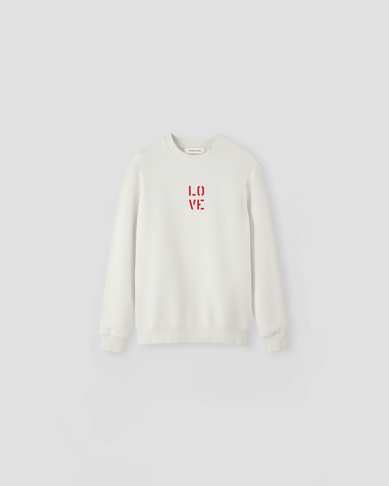 Image of NM1-1 Crewneck Sweater Ecru [LO-VE logo]