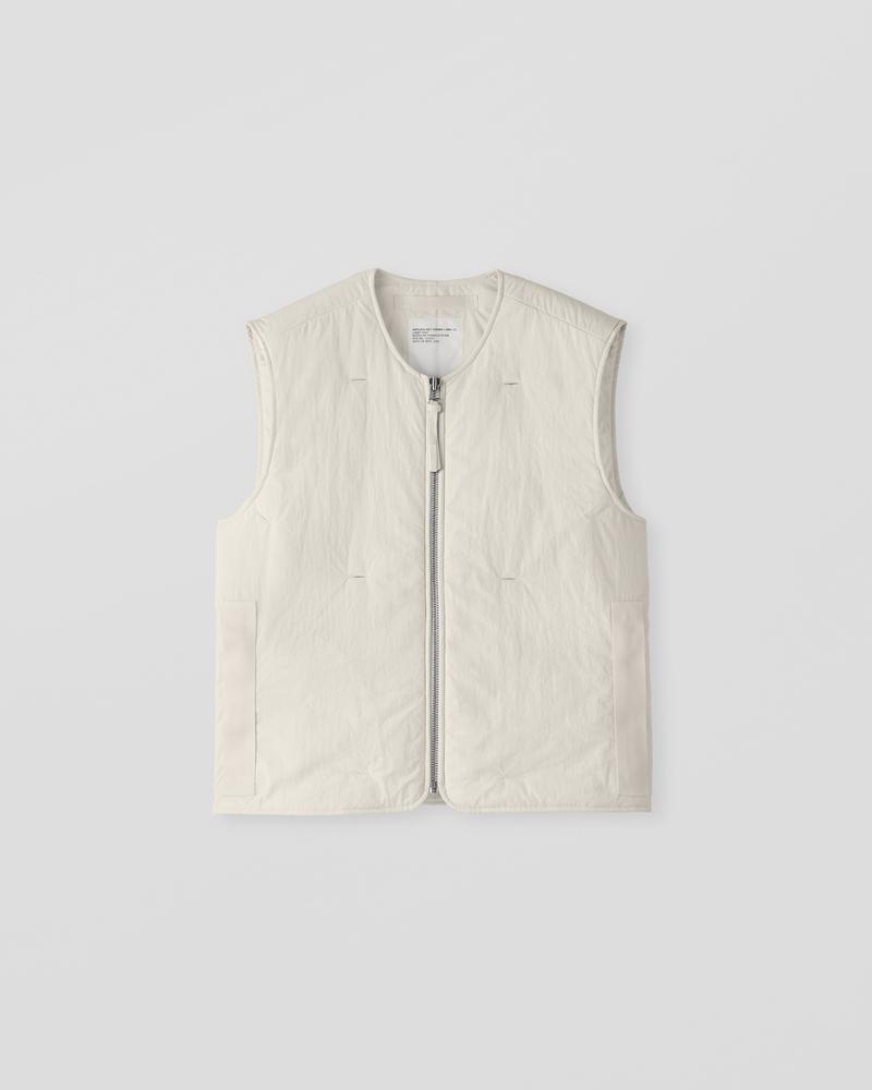 Image of AM2-1C Liner Vest Ecru