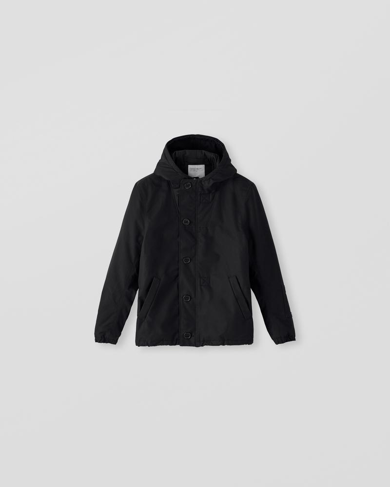 Image of CM1-1 Hooded Deck Jacket Black