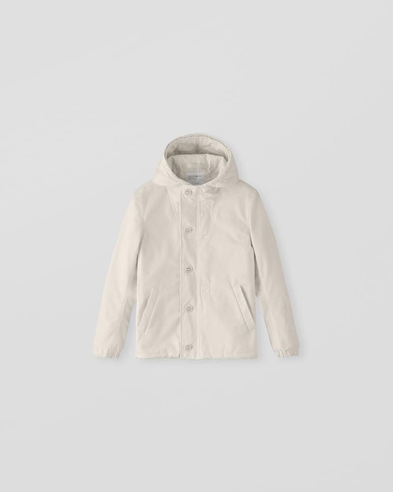 Image of CM1-1 Hooded Deck Jacket Ecru