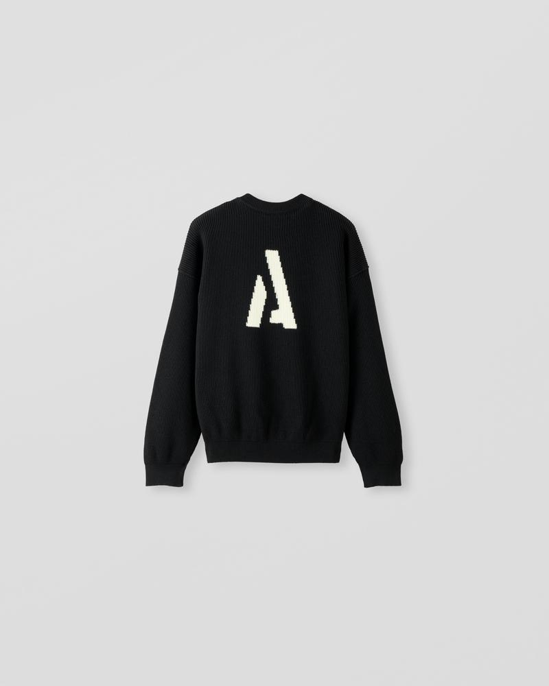 Image of EM1-1 Sweater [Back Logo] Black