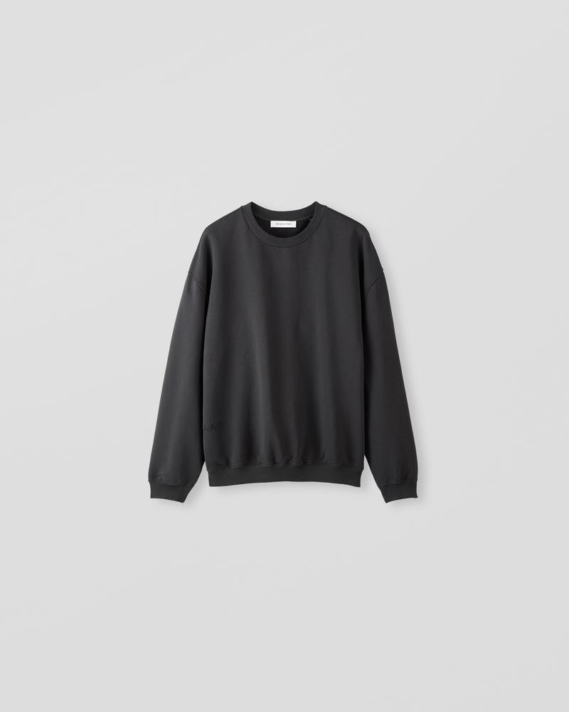 Image of NM1-2 Oversized Crewneck Sweater Charcoal